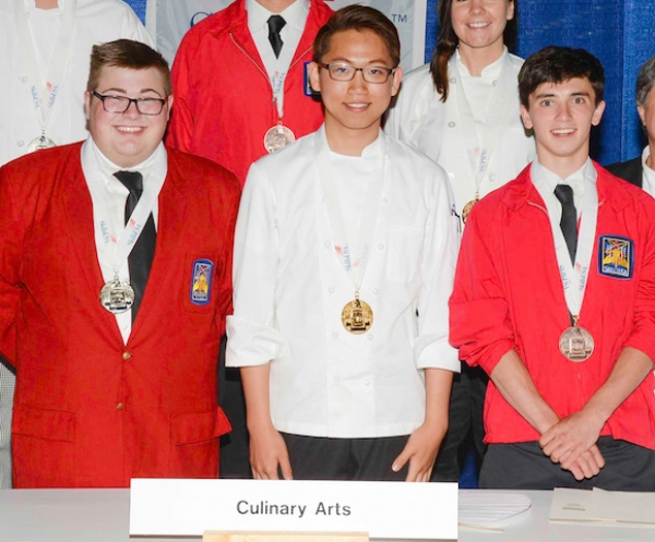 Future CIA Students Sweep SkillsUSA Cooking Competition