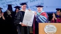 Anthony Bourdain Receives Honorary Doctorate from the CIA